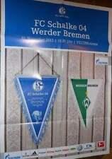 Spielplakat + Poster + FC Schalke 04 vs. Werder Bremen + 10.11.2012 + Sammler +