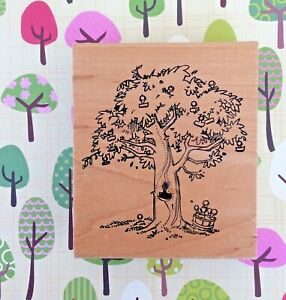Tree of Rubber Stampers Life Wood Mount Rubber Stamp Business Logo Demonstrator