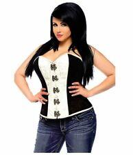 Daisy Corsets - Top Drawer Brocade Steel Boned Corset Top W/ Buckles - Brown -XL
