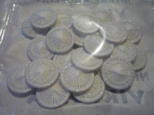 10 nostalgische Zwirnknöpfe Wäsche Knöpfe Zwirnknöpfe weiss 18 mm Baumwolle