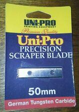 UNI PRO Precision Scraper Blade. Tungsten Carbide Double Edged 50mm. (GENUINE).