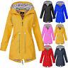 Womens Lady Long Sleeve Hooded Wind Jacket Ladies Outdoor Waterproof Rain Coat