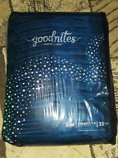 Goodnights Over Night Diapers 4-8 33 Count S/m pullups