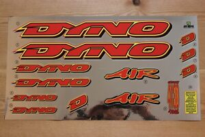 Reproduction 1996 GT Dyno Air BMX Decal Set - Chrome Backing