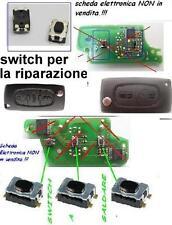 2X MICRO SWITCH PULSANTE X COVER CHIAVE PEUGEOT 207 307 308 1007 2/3TASTI SCATTO