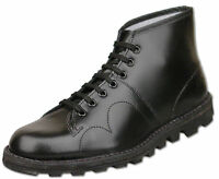 Mens New Lace Up Black Leather Original Monkey Ankle Boots Size6 7 8 9 10 11 12