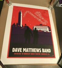 Dave Matthews Band Poster Greek Theater Berkeley LeRoi Sax Stars 9/6/2008