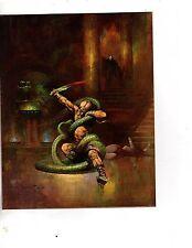 Unframed Poster Art Fantasy Frazetta man with Snake(m77)