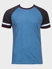 Mens Blue Contrast T-Shirt Size M BNWT Brave Soul