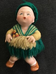 ANTIQUE HEUBACH POSITION BABY   GERMANY   4 INCHES TALL