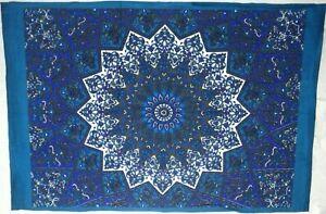 Star Tapestry Blue Indian Mandala Yoga Mat wall Art Hanging Table Cover Poster