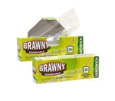 Brawny Essentials Zip Close Sandwich bags 4 Boxes/140 Bags