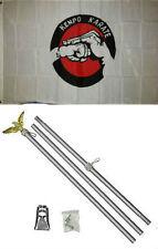 3x5 Advertising Kenpo Karate Martial Arts Flag Aluminum Pole Kit Set 3'x5'