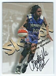1999 Hoops WNBA Autographics Century Marks #3 Bridgette Gordon Monarchs HOF