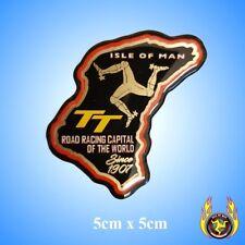 Isle of Man TT Course Map Black Gel Badge Sticker