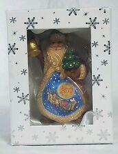 NIB G. DeBrekht Christmas Ornament 2013 Old World Santa w/Bell & Tree