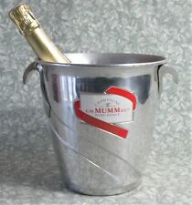 EXCELLENT Vintage French GH MUMM CHAMPAGNE ICE BUCKET Cooler Lovely Mirror Shine