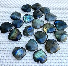 Wholesale Lot 20 Pcs Natural Labradorite Heart �� 0.75�-1.25� Nice Quality