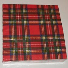 Royal Stewart Red Tartan 3 Ply Paper 33cm Napkins Serviettes Pack of 20 AP2120
