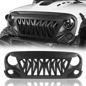 Gladiator Matte Black ABS Grille Grill Cover for Jeep Wrangler JK 2007-2018