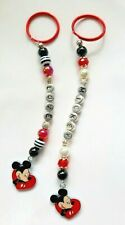 Personalised Mickey Mouse keyring / bag charm (you chose the name ), 2 designs