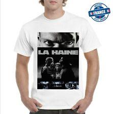 Tee-shirt  100% coton Film Culte  La Haine noir et blanc