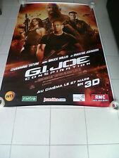AFFICHE GI JOE RETALIATION Bruce Willis 4x6ft Bus Shelter Poster Original 2013