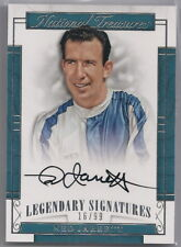 NED JARRETT 2017 PANINI NATIONAL TREASURES SIGNED CARD 16/99 MADE HALL OF FAMER