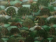 Green Meadow Velvet Curtain Upholstery Cushion Plush Soft Velvet Tree Fabric