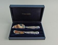 Tiffany & Co. Silver AMERICAN GARDEN Butter Spreader&Cheese Knife Set Sterling