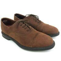 Sperry Top-Sider Mens Size 12 M Brown Suede Leather Oxford Dress Casual Shoes