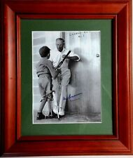 SIR DONALD BRADMAN 'The Autograph'  1963 FRAMED 13x12 PERSONALLY SIGNED