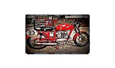 1957 ducati 175t Bike Motorcycle%20A4 Retro%20Metal%20Sign%20Aluminium