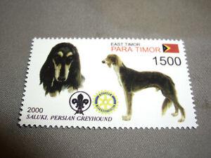 Saluki Dog Stamp, Persian Greyhound, East Timor