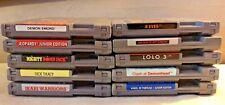 Lot Nintendo NES games cases lolo 3 clash demonhead 8 eyes 14+ to choose!
