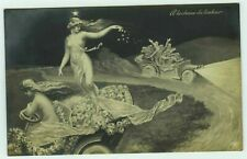 """Fantasy Art """"On The Hunt For Happiness"""" Postcard"""