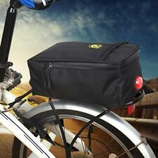 Bike Bicycle Rear Rack Pannier Bags Waterproof Seat Saddle Carry Bag w/Taillight