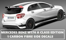 AMG Edition 1 Carbon Fibre Fiber Side Decals Stickers Mercedes Benz A Class W176