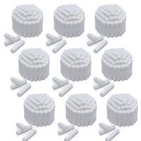 """2000/Case Premium Quality Dental Cotton Rolls Size #2 Medium Nonsterile, 3/8"""""""