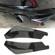 Car Rear Carbon Fiber Bumper Splitters Diffuser Canard Protector Universal Kit