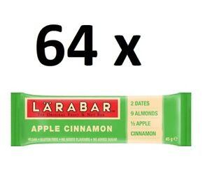 64 x Larabar Apple Cinnamon Fruit & Nut Bars 45g FULL CASE BBE 14/02/21 BARGAIN