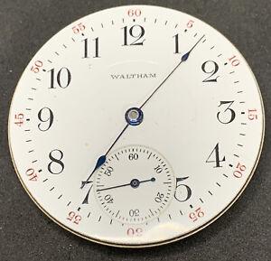 Waltham Riverside 1899 Pocket Watch Movement 16s 17j Openface Ticking F2788