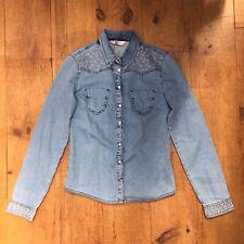 Miss Selfridge Denim Shirt / Top Size 8
