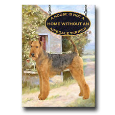 00004000 Airedale Terrier A House Is Not A Home Fridge Magnet Dog