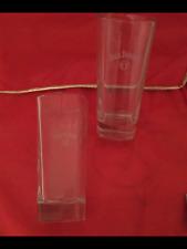 2 Jack Daniels Old No 7 Tall High Ball Square Glasses Bar Pub Man Cave Beer Gift