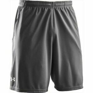 NWT Under Armour Mens Team Coaches Coaching Shorts w/Pockets 1228908 Graphite