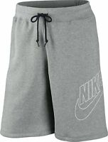 New Mens Nike Fleece Shorts, Jogging Shorts, Long Sport Gym Shorts - S, M, L, XL