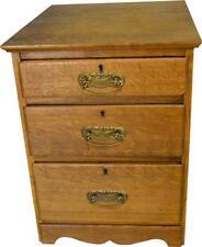 17418 Oak Three Drawer Night Stand