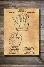 Vintage Reproduction Canvas Print of 1912 Baseball Glove Patent