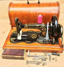 Antique Singer 12K New Family Fiddle base with Acanthus decals
